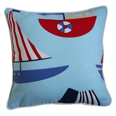 Children's seaside themed cushion