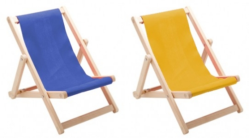 colourful deck chairs for kids