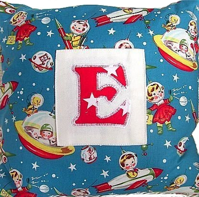 Child's personalised space cushion