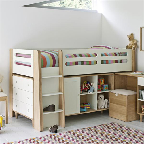 Archie Cabin Bed with 3 Drawer Chest, Small Cupboard and Bookcase