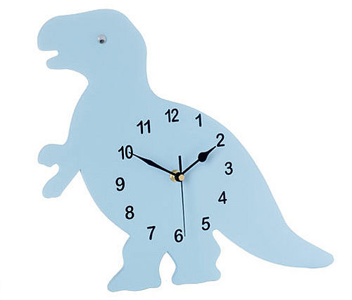 Blue dinosaur clock