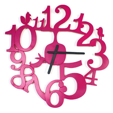 Cut out numbers and animal figures wall clock