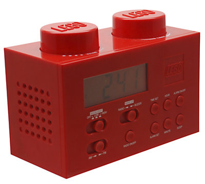 Alarm Clock Radio is styled to look just like a Lego brick