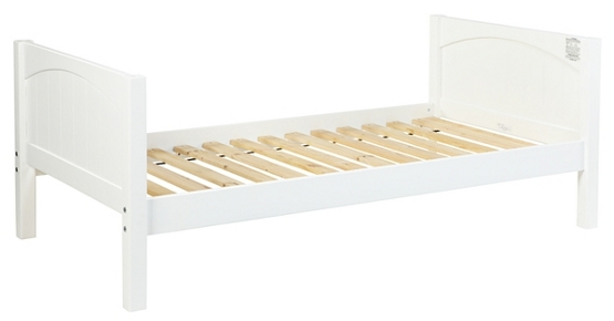 Children's white wooden bedstead