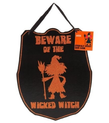 Halloween door sign