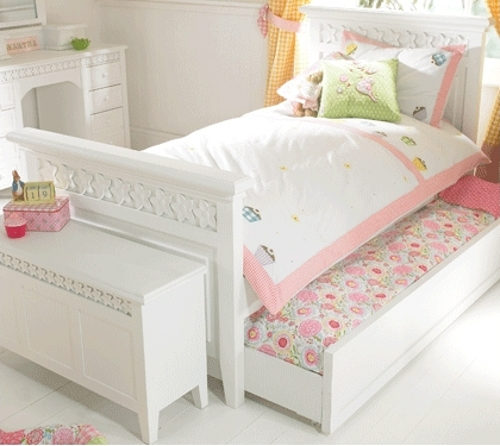 Luxury children's white painted bed