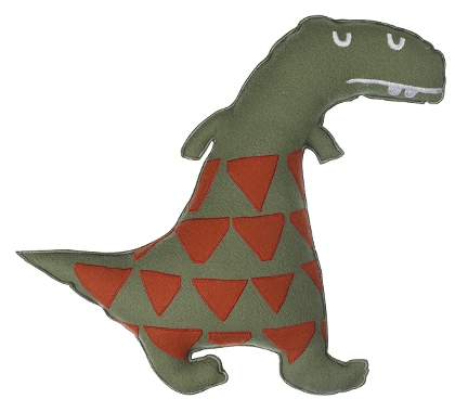Children's dinosaur cushion