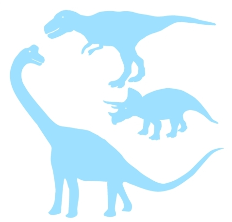 Dinosaur wall stickers in a range of colours