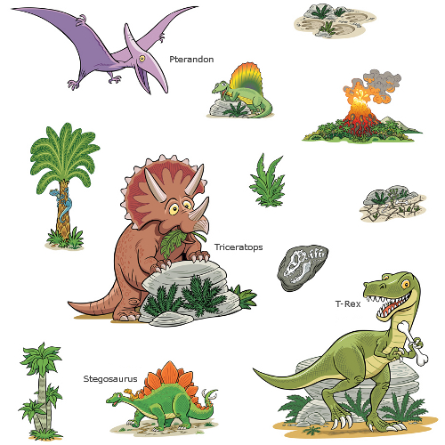 Dinosaur Wall Sticker Set