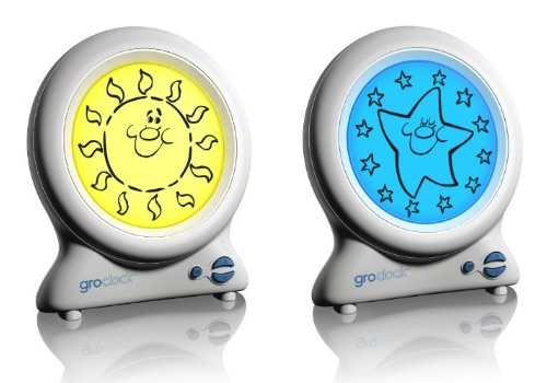 Children's clock that teaches teaches about day-time and night-time