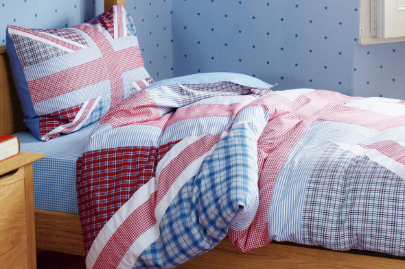 appliqued Union jack design duvet set