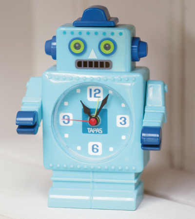 Kid's robot formed alarm clock