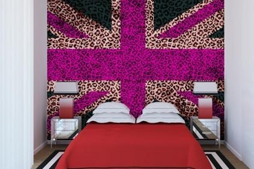 Pink Union Jack Wall Mural