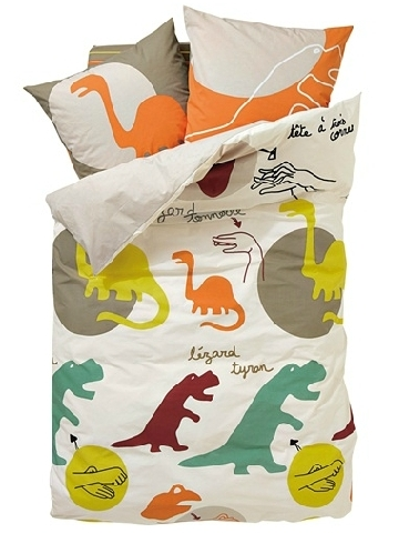 Children's dino themed duvet cover