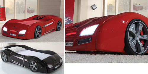 Children's luxury racing car bed