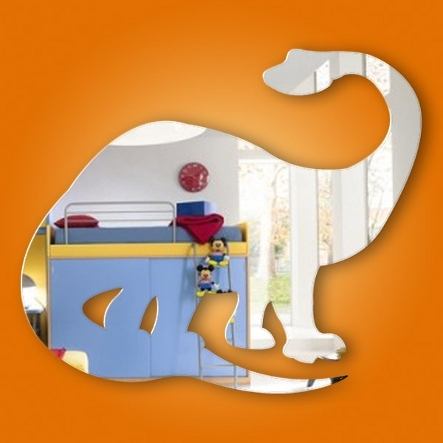 Dinosaur shaped wall mirror