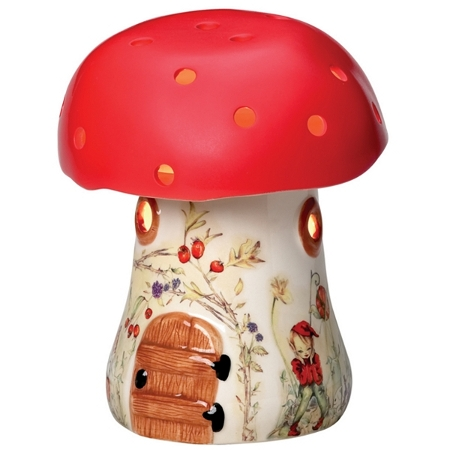 Toadstool shaped night lamp