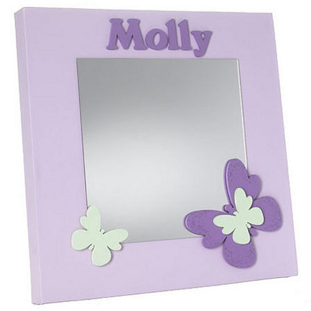Personalised mirror with butterflies