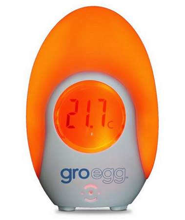 Children's night light and room thermometer in one