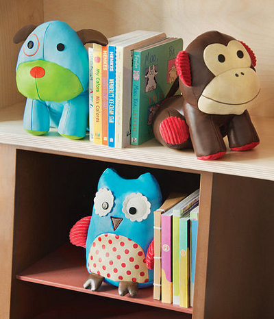 Childrens animal bookends