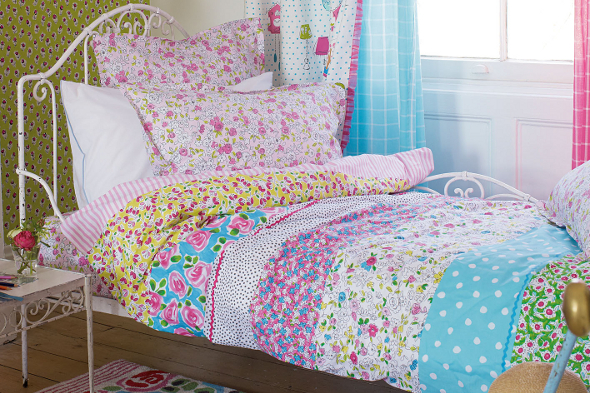 Vintage style floral bed linen