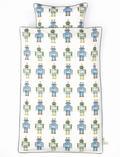 Kid's bedding set with robot print