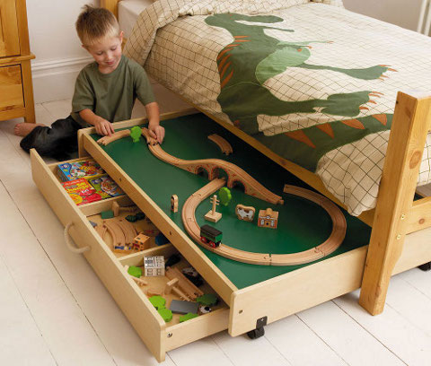 Under-bed Play Table With Trundle Drawer