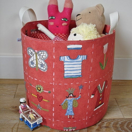 Fabric storage tub with liberty print
