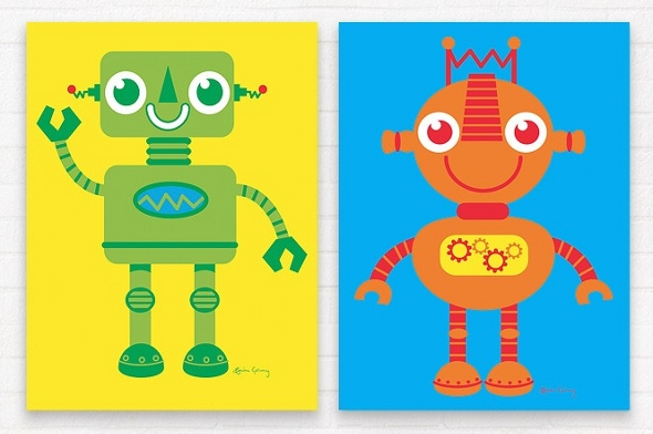 Kid's robot wall art