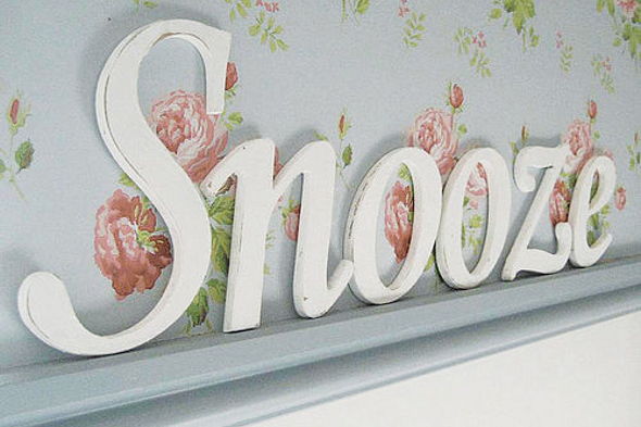 Shabby chic style wooden letters