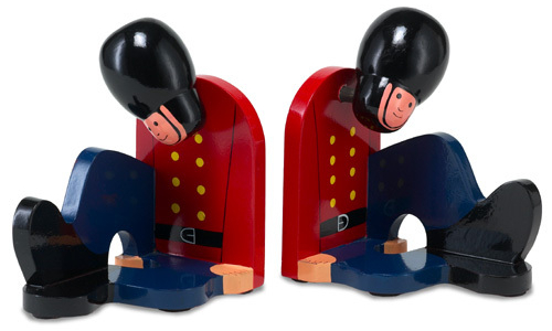 Tired soldiers bookends