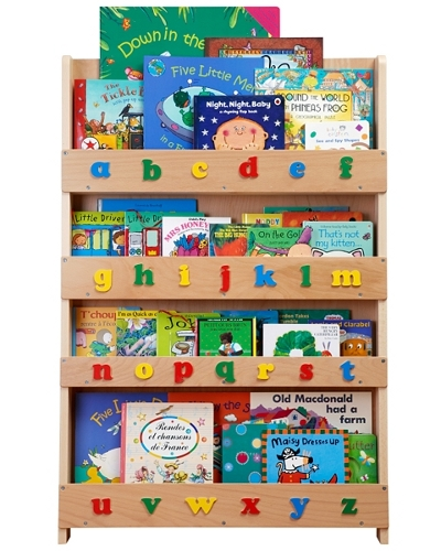 Kids upright display bookcase