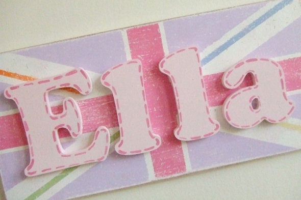 Vintage Style Union Jack Name Plaque