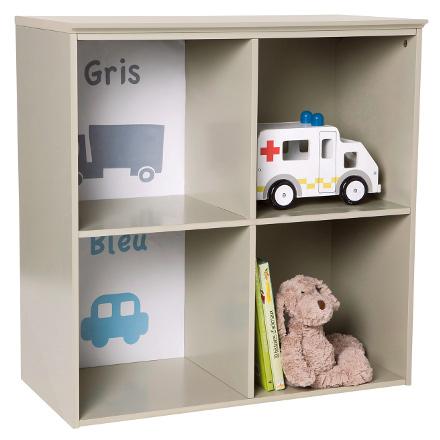 Children's 4 compartment storage shelves