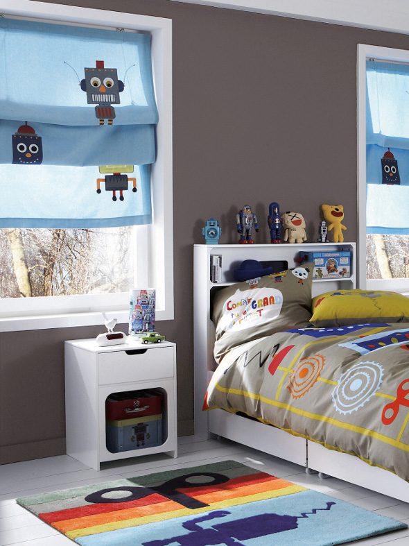 Boys robot themed bedroom