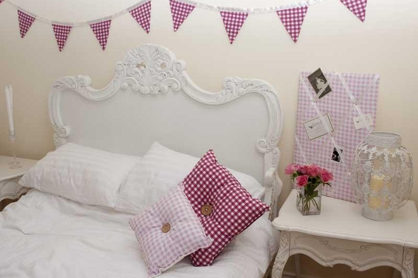 Vintage style notice board and children's bedroom decor