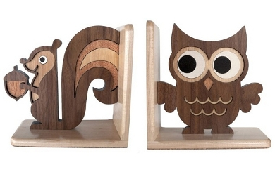 wooden-bookends