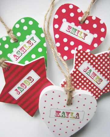 childrens personalised wooden tree decorations
