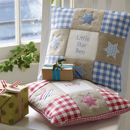 Children's personalised cushions