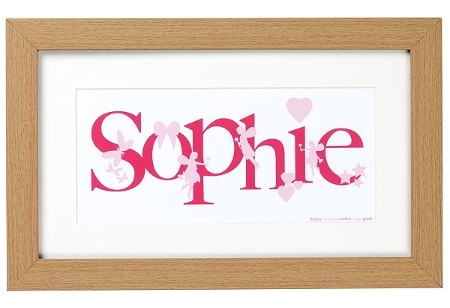 Girl's personalised art print