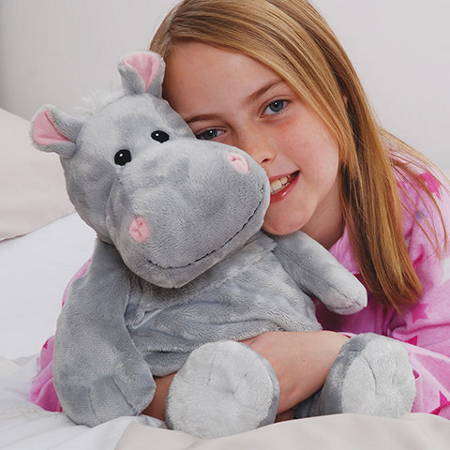 Cuddly hot hippo with lavender scented insert