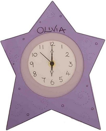 Girl's personalised wall clock