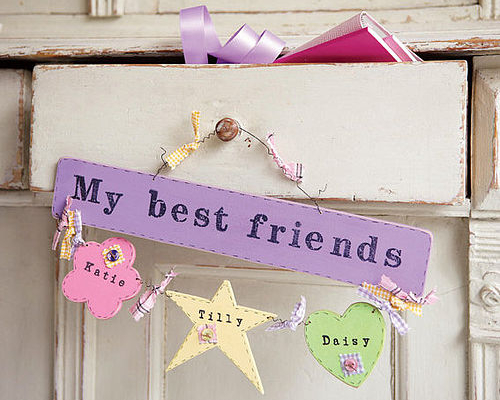 Handmade wooden sign for teenagers and their best friends
