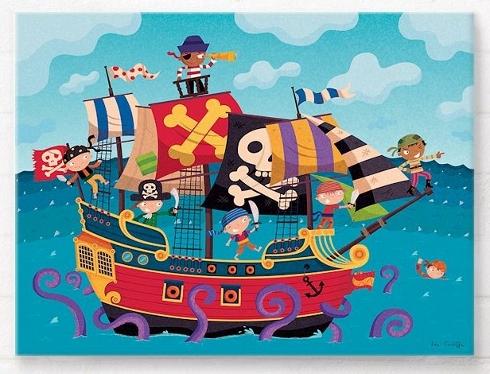 Pirate themed wall art