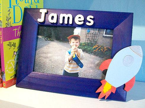 Boy's personalised photo frame