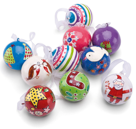 Set of ten Christmas baubles for kids  sc 1 st  My Web Value | Decoration ideas blog. & christmas bauble decorations | My Web Value