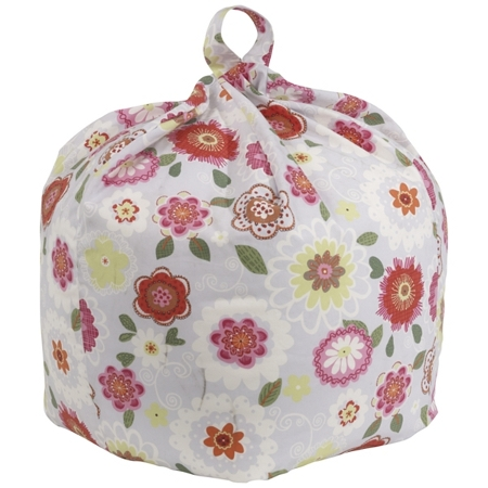 Children's bean bag with perky Amelie multi-coloured print