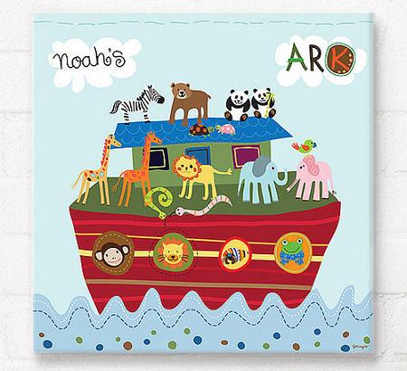 Noah's Ark wall art for kids