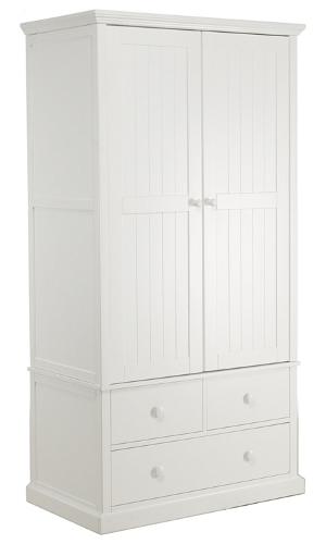 Children's white bedroom wardrobe