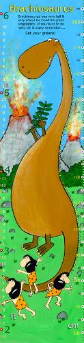 Brachiosaurus Dinosaur Height Chart